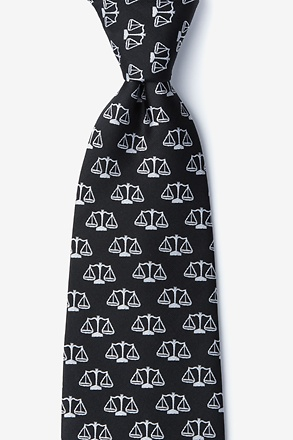 Scales of Justice Black Tie