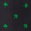 Black Microfiber Shamrocks Extra Long Tie