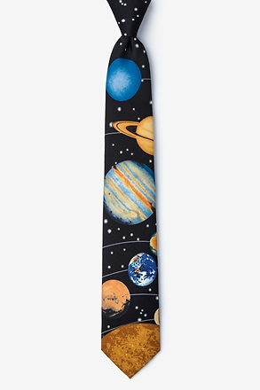 Solar System Black Tie For Boys