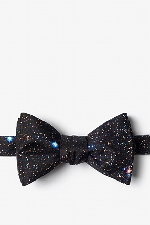 _Spaced Out Black Self-Tie Bow Tie_