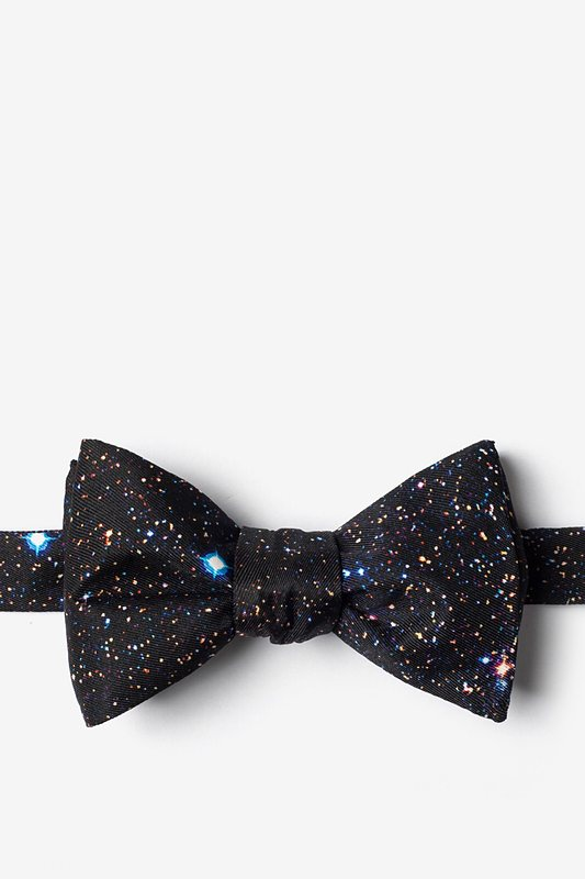 Spaced Out Self-Tie Bow Tie