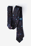 Spaced Out Black Skinny Tie Photo (3)