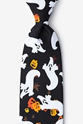 Spooks on the Loose Black Extra Long Tie Photo (0)