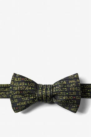 Stock Ticker Butterfly Bow Tie
