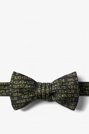 Stock Ticker Self-Tie Bow Tie