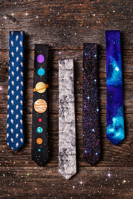 The 8 Planets Black Skinny Tie Photo (1)