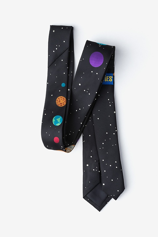 The 8 Planets Black Skinny Tie Photo (2)