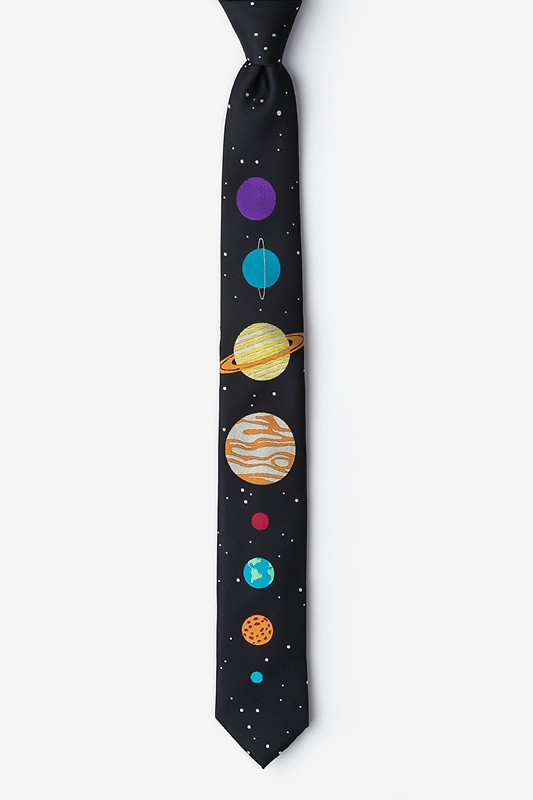 The 8 Planets Black Skinny Tie Photo (0)