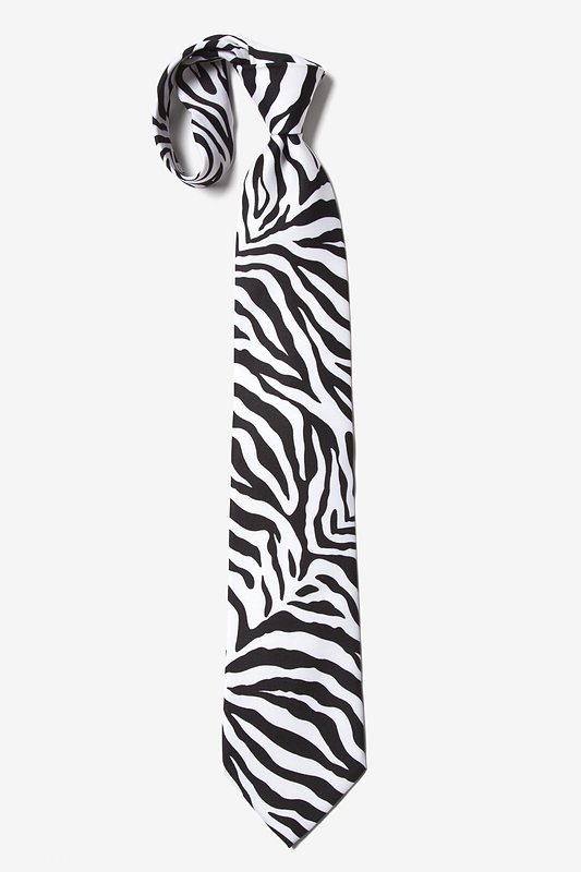 Zebra Animal Print Tie Photo (4)