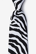Zebra Animal Print Tie Photo (0)