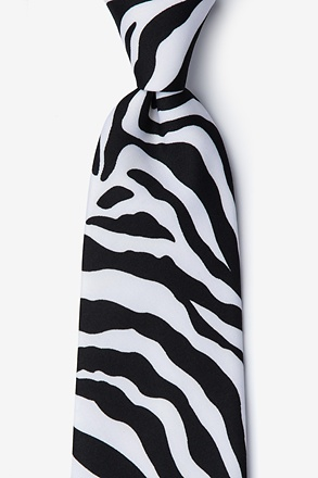 _Zebra Animal Print Black Tie_