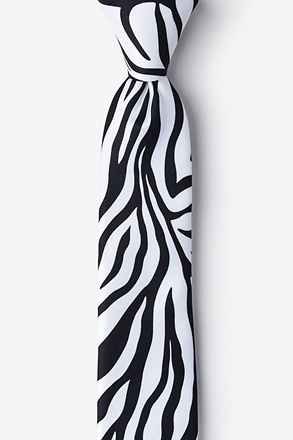 _Zebra Animal Print Tie For Boys_