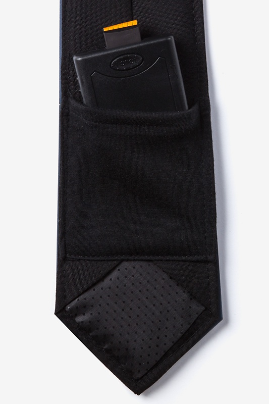 fbba3710ccae6 Black Polyester Christmas Trees Sound Activated Light Up Tie | Ties.com
