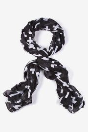 Black Polyester Cross Scarf