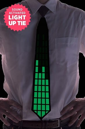 GO Green Sound Activated Light Up Tie Tie