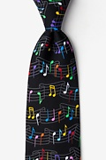 Musical Rainbow Black Tie