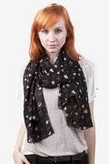 Niagara Hearts Black Scarf by Scarves.com