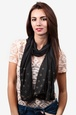 Black Polyester Oasis Scarf