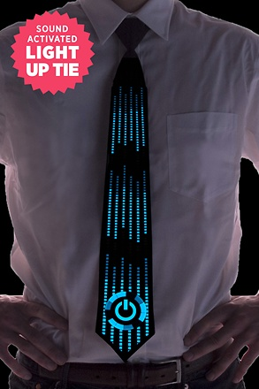 Power Sound Activated Light Up Tie Tie