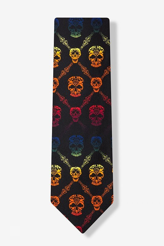 Rainbow Skull Diamond Tie Photo (1)