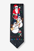 Rock On Santa Band Tie