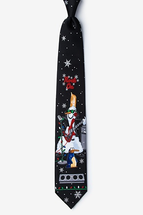 Rock On Snowman Tie