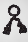Rockstar Stud Black Scarf by Scarves.com