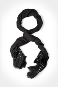 Safi Studded Black Scarf by Scarves.com