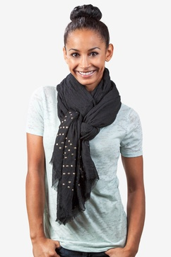 Safi Studded Black Scarf