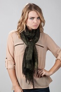 Twinkle Black Scarf by Scarves.com