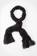 Velvet Stars Black Scarf by Scarves.com