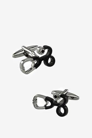_Stethoscope Black Cufflinks_