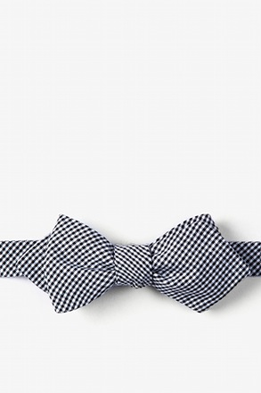 Black Chamberlain Check Diamond Tip Bow Tie