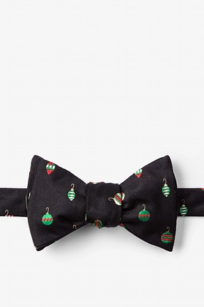 "_""Don't Hate, Decorate"" Black Self-Tie Bow Tie_"