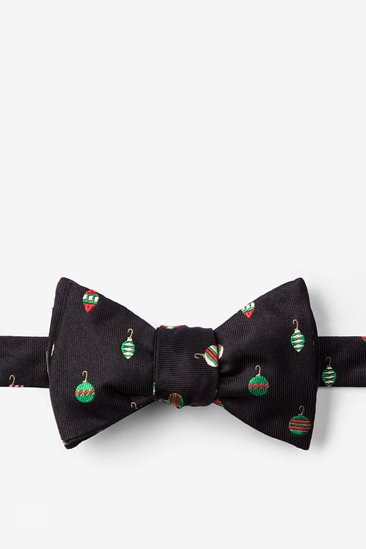 """""""Don't Hate, Decorate"""" Black Self-Tie Bow Tie Photo (0)"""