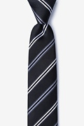 Black Silk Abbert Skinny Tie