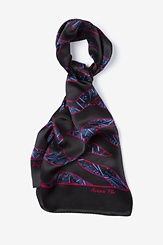 Black Silk Avian Flu Oblong Scarf