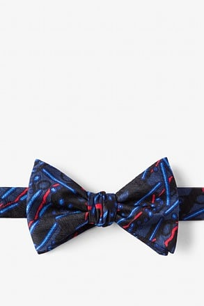Avian Flu Black Self-Tie Bow Tie
