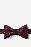Black Silk Biohazard Bow Tie