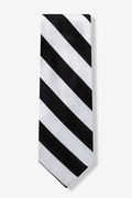 Black and Silver Stripe Tie Photo (0)