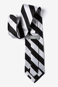 Black and Silver Stripe Tie Photo (1)