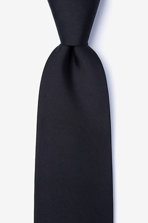 _Black Extra Long Tie_