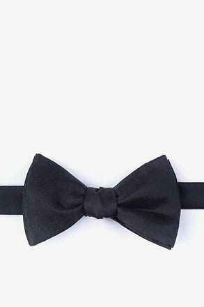 _Black Self-Tie Bow Tie_