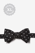 Black With White Dots Butterfly Bow Tie