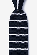 Briton Stripe Black Knit Tie Photo (0)
