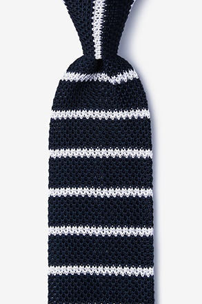 _Briton Stripe Black Knit Tie_