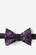 C.Difficile Black Self-Tie Bow Tie