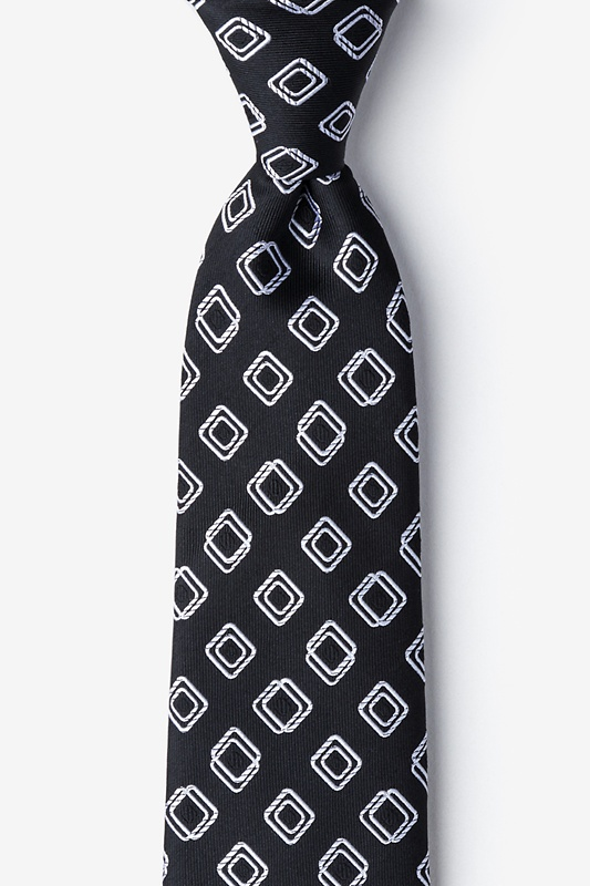 Capri Black Extra Long Tie Photo (0)