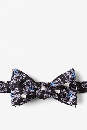 _DIABETES Black Self-Tie Bow Tie_