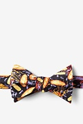 Black Silk Foodborne Six Bow Tie